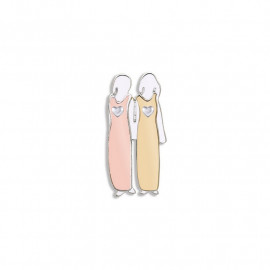 Bond Between Sisters Pin - With Love