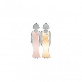Bond Between Sisters Pin - Enamel Metal